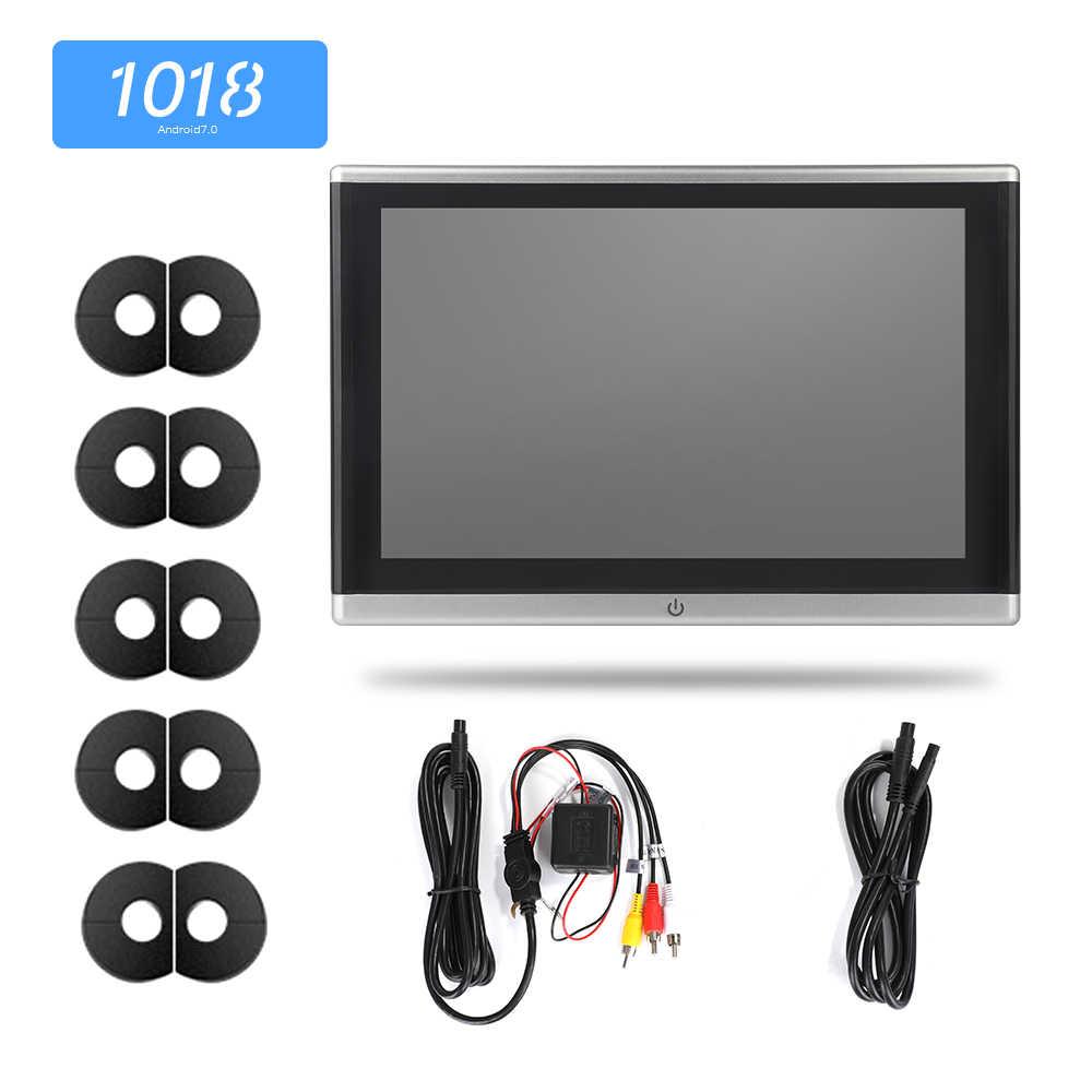 أندرويد OS سيارة راصد مسند الرأس مشغل فيديو USB/SD/FM TFT LCD شاشة رقمية تعمل باللمس زر لعبة التحكم عن بعد سيارة MP5 لاعب