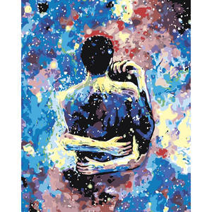 RUOPOTY Figure-Painting Drawing-Canvas Painting-By-Numbers Colorful-Picture Arts Adults
