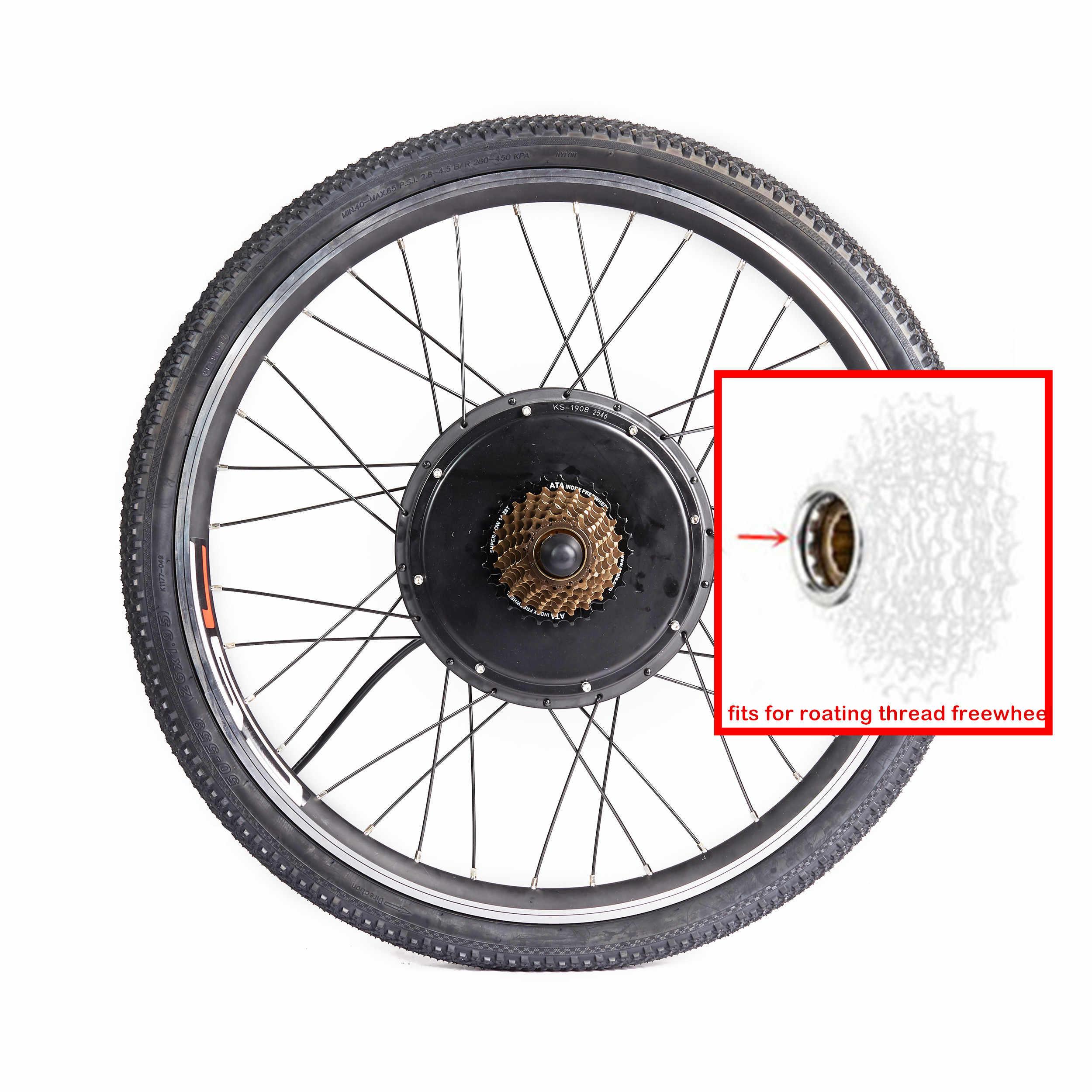 """Kit de Conversion Ebike 48V 1500W vtt Kit de Conversion de roue avant arrière pour vélo électrique de montagne 20 """"24"""" 26 """"28"""" 27.5 """"29"""""""