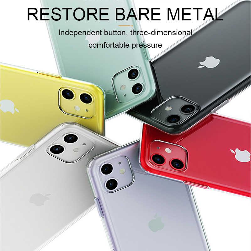 Ультратонкий прозрачный силиконовый чехол для телефона iPhone 11 8 XR, мягкий чехол-накладка для iPhone 11 Pro XS Max X 8 7 6s Plus 5 SE 11, чехол