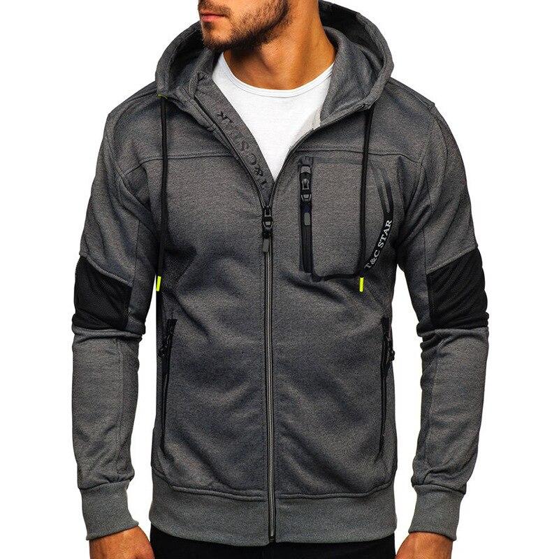 New Arrival Spring Men's Sweatshirt Hoodies Sweatshirt Zipper Design Hooded Slim Men Hoodie Hip Hop Hoodies Sportswear Tracksuit