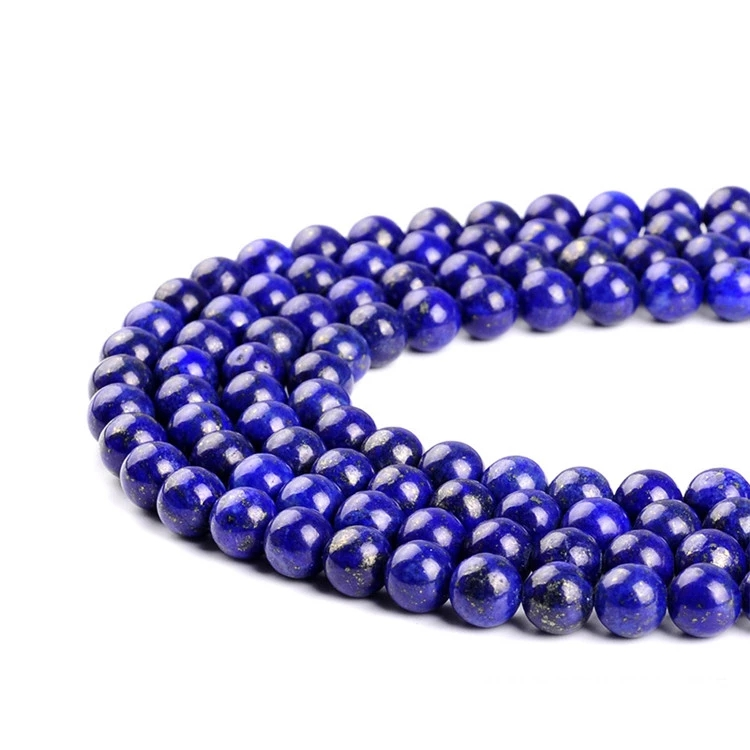 High Quality Gemstone Lapis Bead Hot Selling Blue Lapis Lazuli Natural Stone Beads Size 4/6/8/10mm For Jewelry