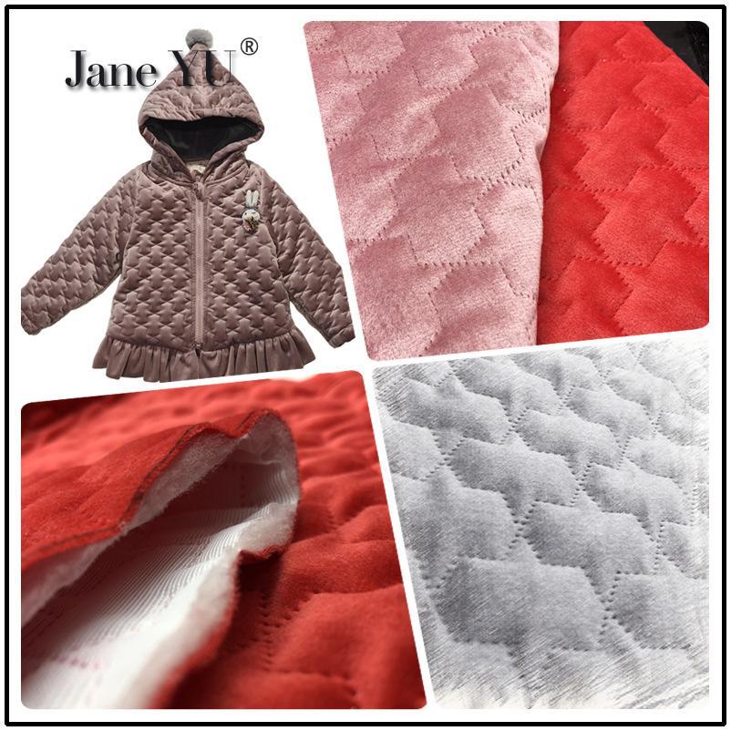 Tissus de vêtements d'automne et d'hiver JaneYU avec veste en sergé matelassé et vêtements en coton thermique plus épais et tissu en coton