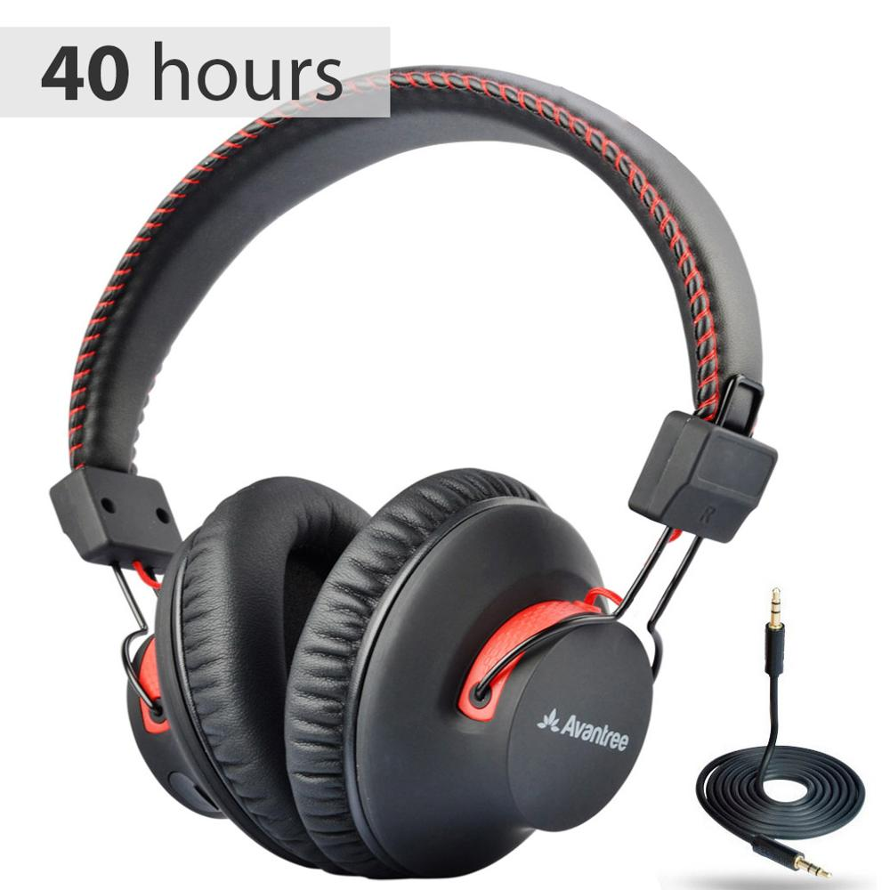 Avantree Audition 40 Hr Bluetooth Over Ear Headphones With Microphone For Pc Computer Phone Call Aptx Hifi Stereo Bluetooth Earphones Headphones Aliexpress