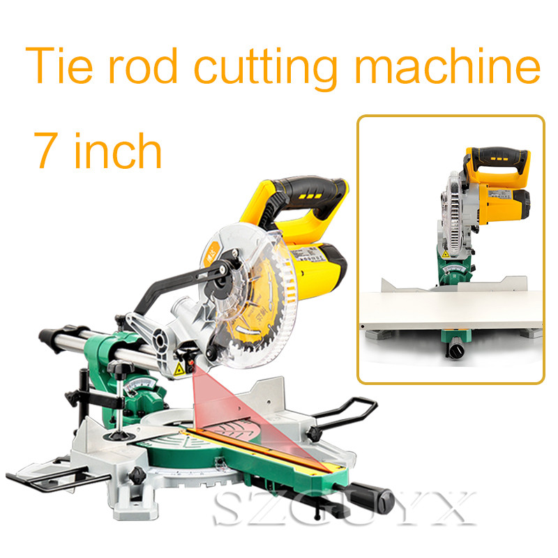 Multifunctional Sawing Machine 7 Inch Rod Cutting Machine Miter Saw Multi-angle Beveling 0-45 Degree Woodworking Tools