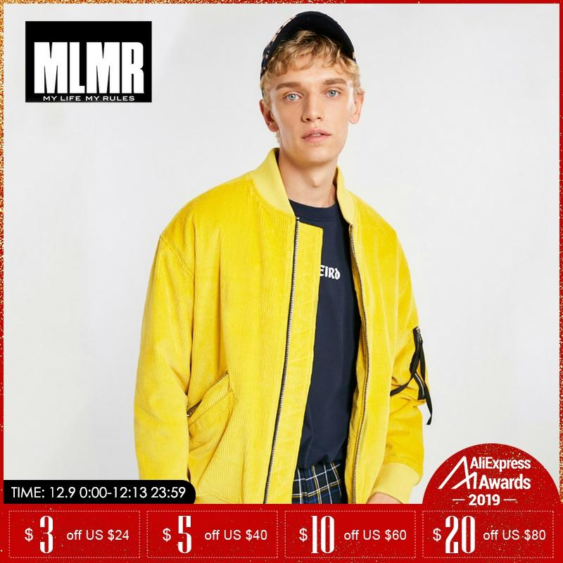 MLMR Autumn Winter Menretro Corduroy Baseball Collar Cotton Jacket Coat  |218309530