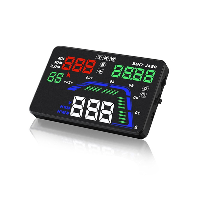 Universal Car HUD Head Up Display Overspeed Warning System GPS Magnetic Field Dual Channel Compass Car Electronics Accessories