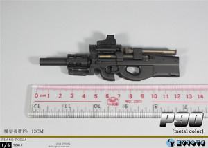 Image 2 - ZYTOYS ZY2011 1/6 P90 Gun Model for 12inch Action Figure DIY