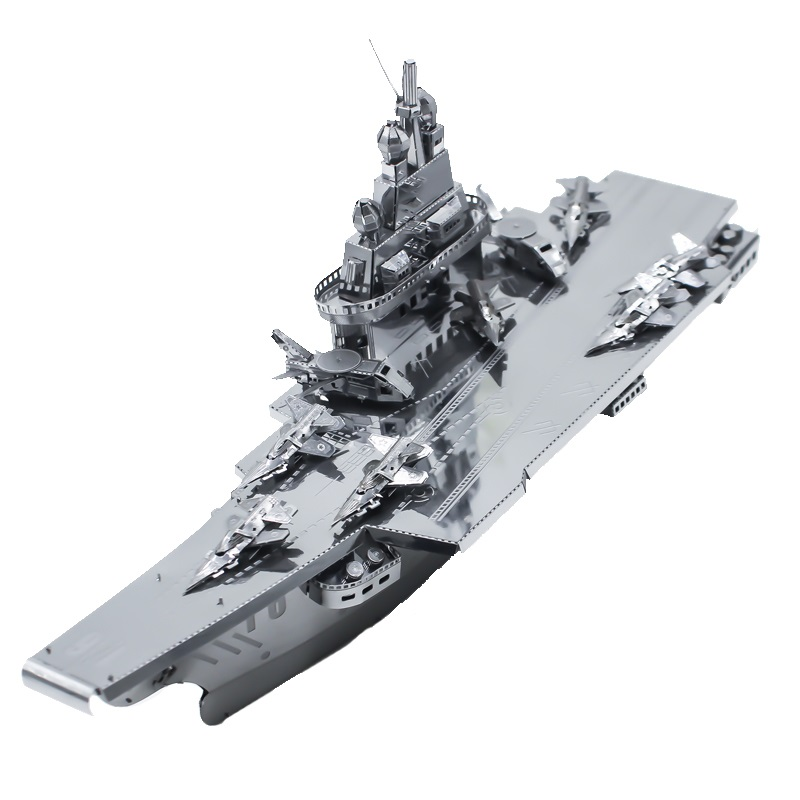 Jigsaw Puzzle Toy 3D Metal Puzzle Model Liaoning Ship Assembly Kit DIY Stainless Steel Collection Children's Gift