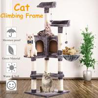 Luxury Cat Scratching Post Large Climbing Frame for Cat Hanging Fluffy Balls Toys House Multi functional Cat Tree Board Condo