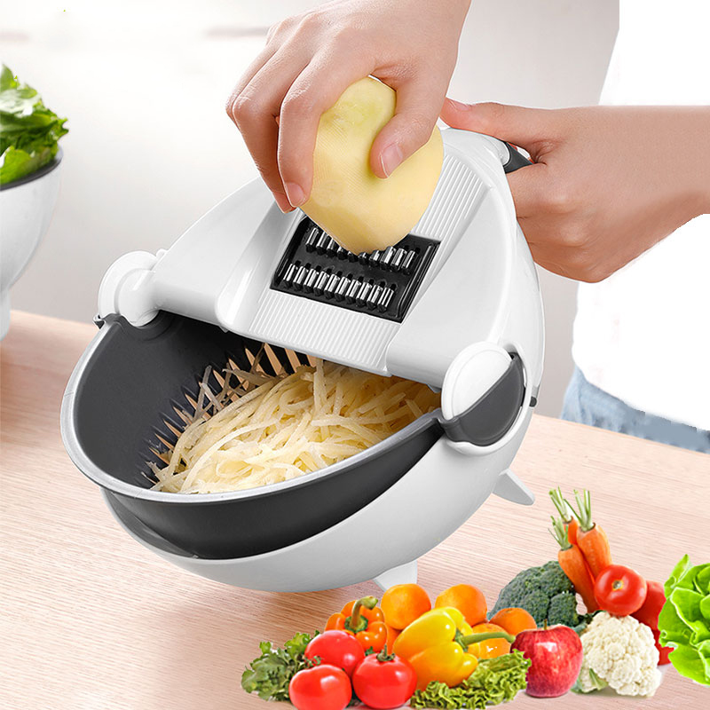 9 IN 1 Mandoline Slicer Vegetable Cutter Potato Onion Carrot Grater Chopper