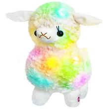 Plush-Toy Christmas-Holiday Light-Up Stuffed Gift Soft LED Birthday Glow for Kids White