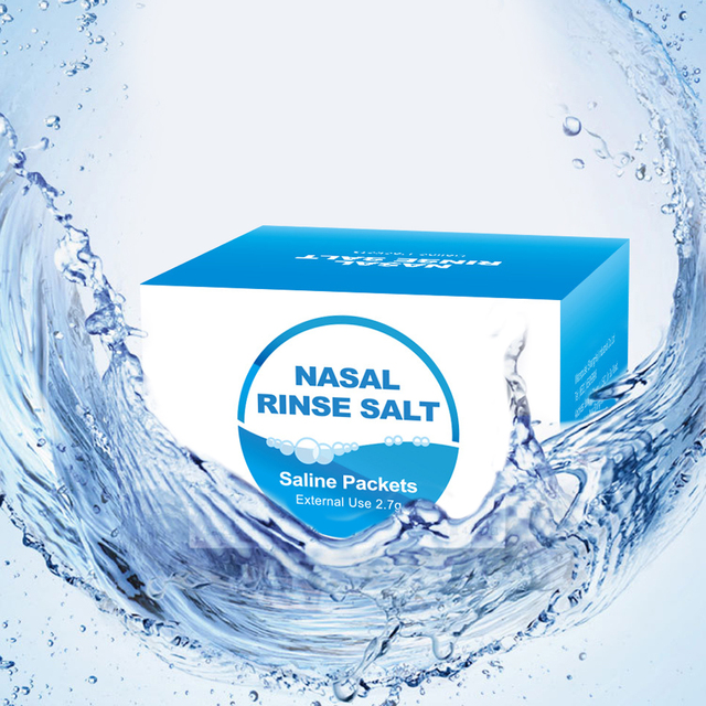 High Quality30 Pack Nasal Wash Salt 2.7g Per Pack Nasal Rinse Non-Iodized Salt  Kids Adults For 300ml Nasal Cavity Irrigation 2