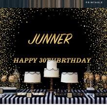 BEIPOTO черный и золотой день рождения фон блестящие взрослые вечерние украшения фотографии фон фото баннер для киоска реквизит B-474