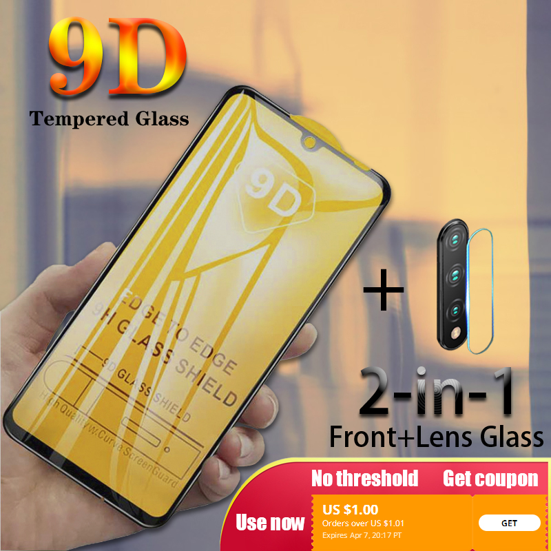 2 In 1 Tempered Glass For Huawei P30 P20 Pro Camera Lens Screen Protector For Honor 10i 20i 9 10 Lite 8X 9X Protective Film