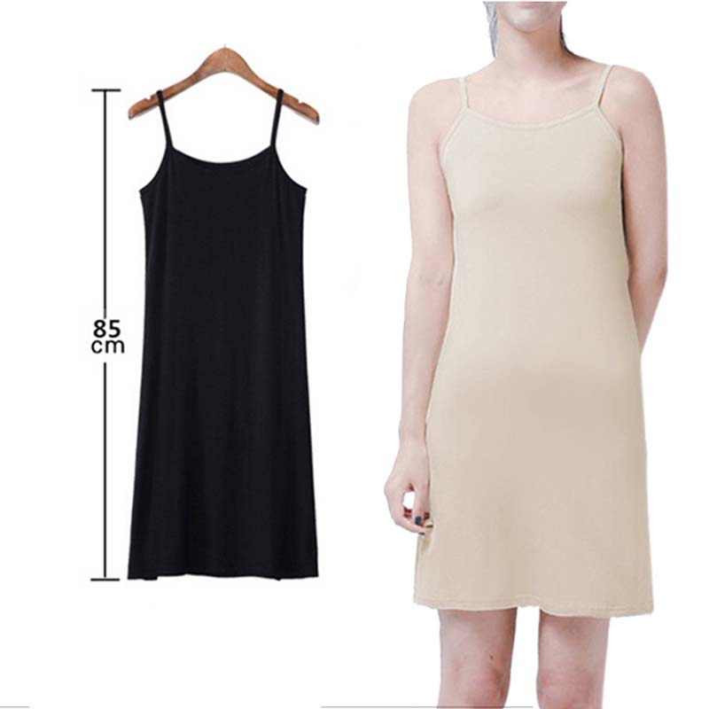 Sleeveless Casual Dress Fitted Short Cami Dress Women Plain Bottom Dress Sexy Solid Petticoat