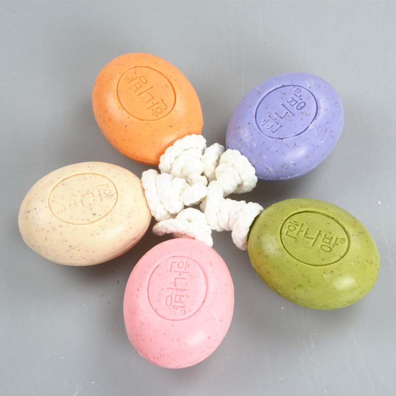 100% Pure Nature Elements Organic Bath Soap Flower Plants Essence Volcanic Clay Shower Handmade Soap With Rope BV789