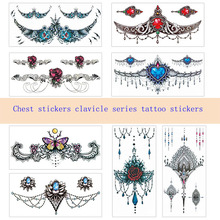 Cover Stickers Tattoo Arm Sternum Clavicle Scar Art-Girl Beauty Sexy Waterproof Fashion