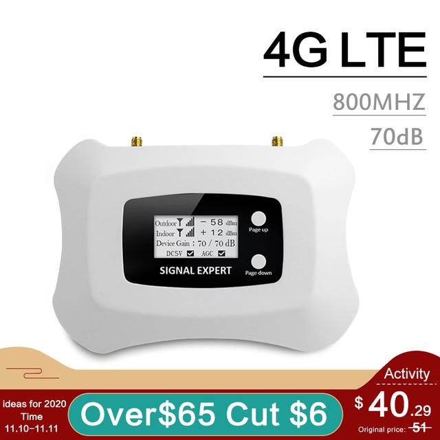 4G Lte 800 Netwerk Signaal Repeater Band 20 Lcd Display 70dB Gain Band 20 4G Lte Mobiele Telefoon Signaal versterker Lte 800 Mhz Booster
