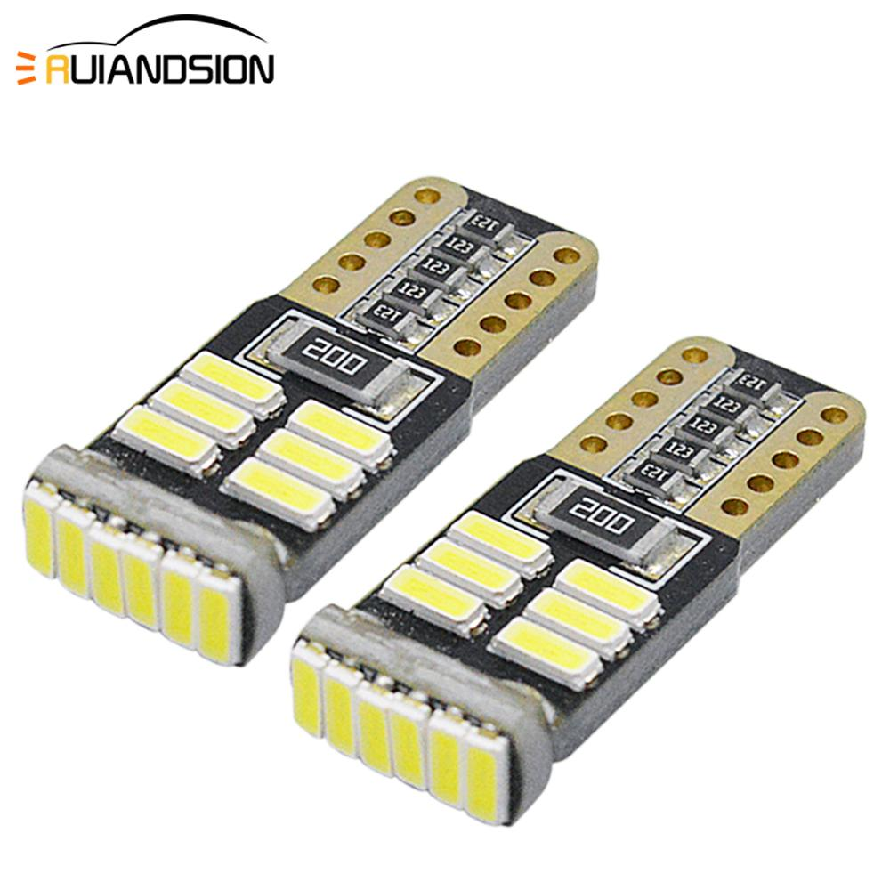 2x T10 <font><b>LED</b></font> Bulbs W5W <font><b>Canbus</b></font> 12-18V 18SMD White Car Interior Reading Light Wedge Side License Plate <font><b>5W5</b></font> <font><b>LED</b></font> Free Error 194 168 image