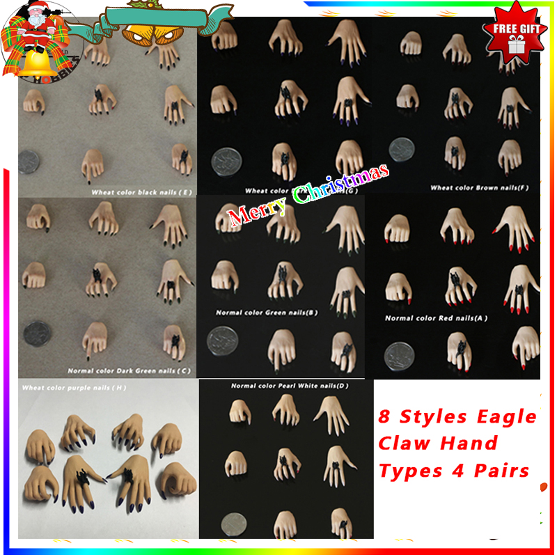 """3 Pairs 1//6 Scale Female Hands Model For 12/"""" Hot Toys Phicen Body Figure Dolls"""