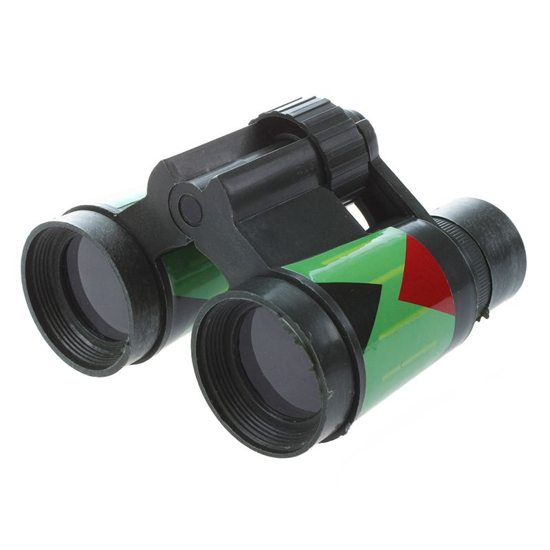 SODIAL(R) ArmyGreen Plastic 10 X 30mm Binocular Toy For Child Kids