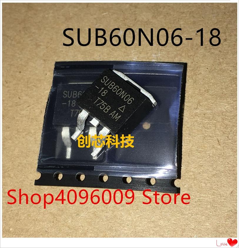NEW 10PCS/LOT SUB60N06-18 60N06 SUB60N06 TO-263