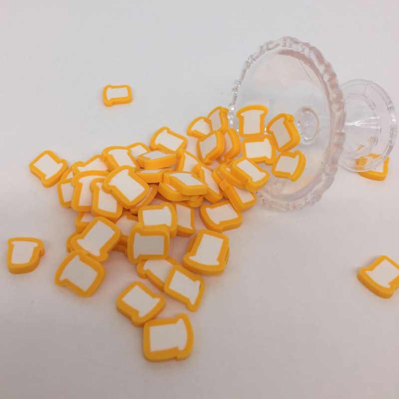 100Pcs Simulasi Roti Panggang Roti Polimer Hot Tanah Liat Taburan untuk Kerajinan Scrapbooking Telepon Dekorasi DIY Membuat 10 Mm