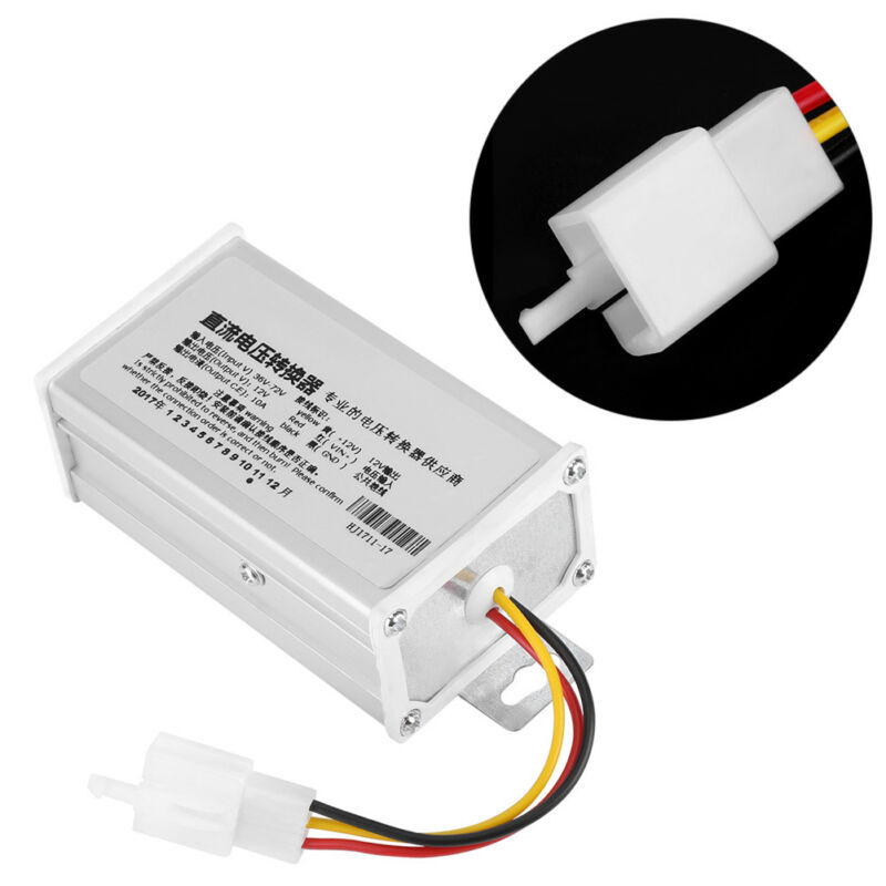 1X Electric Scooter Converter DC 36V-72V To 12V 10A Electric Bicycle Converter Adapter Down Transformer