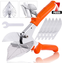 45 degree 90 edge angle scissors/multifunction scissors/wire slot cutter with 5 Replacement Blades and Spanner