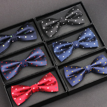 Best man men's colorful point bow tie fashionable new bow tie men gifts stylish colorful splash ink pattern pu bow tie for men