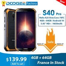 DOOGEE S40 Pro Smartphone 4GB 64GB Octa Core 13MP IP68/IP69K Handy 5.45 ''HD + android 10 4650mAh NFC 4G LTE Handy