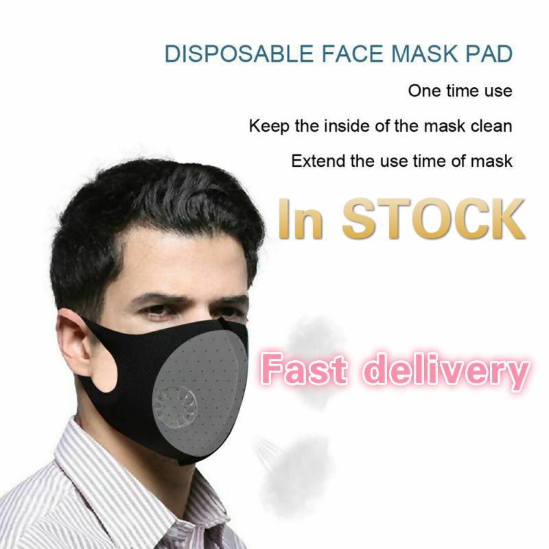 PM2.5 Black Mouth Mask Anti Dust Mask Air Purifying Windproof Mouth-muffle Proof  Face Masks Care Mouth Muffle RS2 Mask