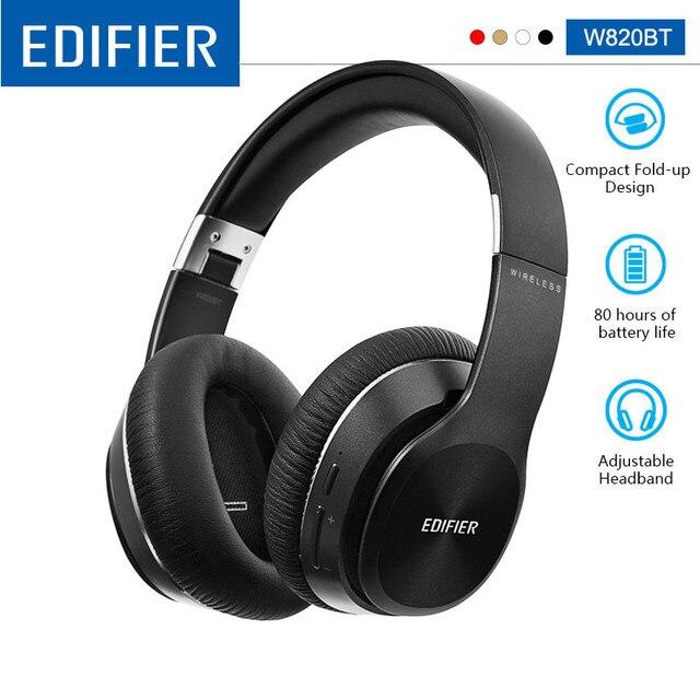 EDIFIER W820BT Bluetooth אוזניות אלחוטי על אוזן רעש בידוד CSR טכנולוגיה עד 80 שעות השמעת זמן לקפל בקלות