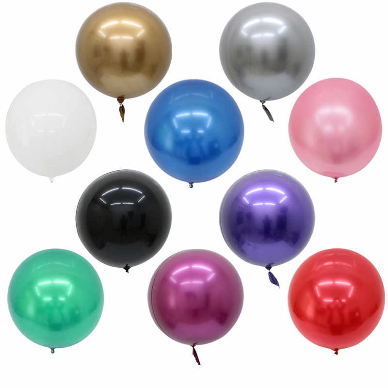10PCS 18/22/32inch Metal BoBo Balloon Birthday Party Decoration Helium Balloon Wedding Decoration Metallic Balloon Supplies
