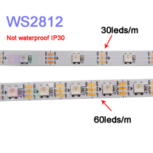 50m 10lots 5m/roll WS2812B full color led strip light;DC5V 30/60 pixels/leds/m WS2812 IC IP30/IP65/IP67 pixel led lamp tape