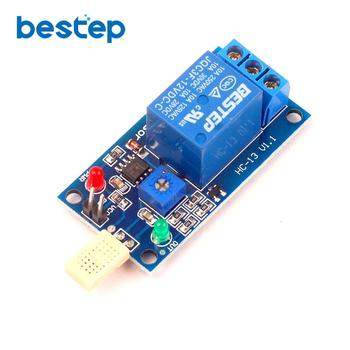 цена на DC 5V 12V 1 Channal 1CH Humidity Sensor Switch Relay Module Control Board Humidity Sensor Module