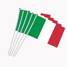 14x21 см 5 шт. мини флаг Италия флаг итальянский флаг палка флаг круглые вечерние украшения для парадов международный фестиваль