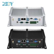 Двойной Ethernet безвентиляторный мини ПК компьютер Intel Core i5 4200U 7200U 8350U I7 7500U RS485 GPIO DDR4 встроенный IP65 промышленный MINIPC