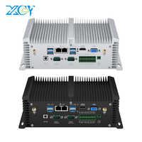 MINI ordenador sin ventilador de doble Ethernet Intel Core i5 4200U 7200U 8350U I7 7500U RS485 GPIO DDR4 miniordenador Industrial IP65 integrado