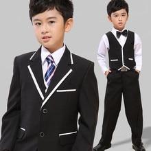 Kid Casual Blazers Suit For Baby Boy Black Child Coat Fashion Children Jacket   Costume For Boy  Graduation Suit H021