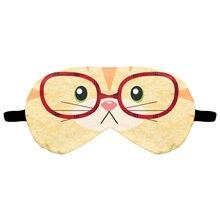 Eye Mask 3D Digital Printing Animal Cat Cartoon Sleeping Mask Eyeshade Breathable Blindfold Headband Eyepatch Night Mask Rest