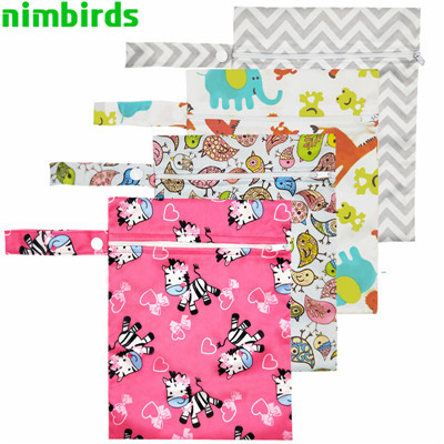 Reusable Waterproof Wet Bag Printed Single Pocket Nappy Bags PUL Travel Wet Dry Bags Mini Size 25x20cm Diaper Bag Wholesale | Happy Baby Mama