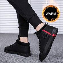 SUROM qualité PU cuir hommes chaussures décontractées hiver en plein air imperméable à leau chaude baskets antidérapant en caoutchouc mode bas hommes chaussures adulte