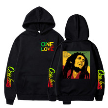Sweat à capuche Bob Marley Legend Reggae One Love pour homme et femme, vêtement Streetwear décontracté, avec imprimé One Love, hiver
