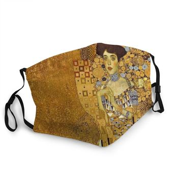 Adele Bloch-Bauer Non-Disposable Face Mask Gustav Klimt Anti Haze Dustproof Mask Protection Cover Respirator Mouth Muffle image
