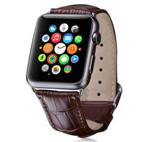 Leather Watchband for Apple Watch Band Series 3/2/1 Sport Bracelet 42 mm 38 mm Strap For iwatch 4 Band eastar plastic protective case shockproof watchband for apple watch series 3 2 1 sport 42 mm 38 mm strap for iwatch band