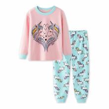 Детские пижамы tuonxye с мультяшным единорогом пижамный комплект