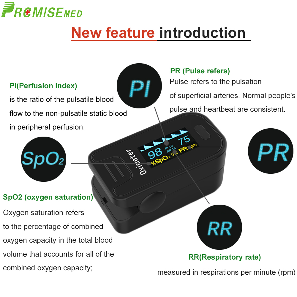 Image 5 - PRO M130 Finger Pulse Oximeter,For Medical And Daily Sports,Pulse Heart Rate Blood Oxygen SPO2 Saturation Monitor,OLED displayBlood Pressure   -