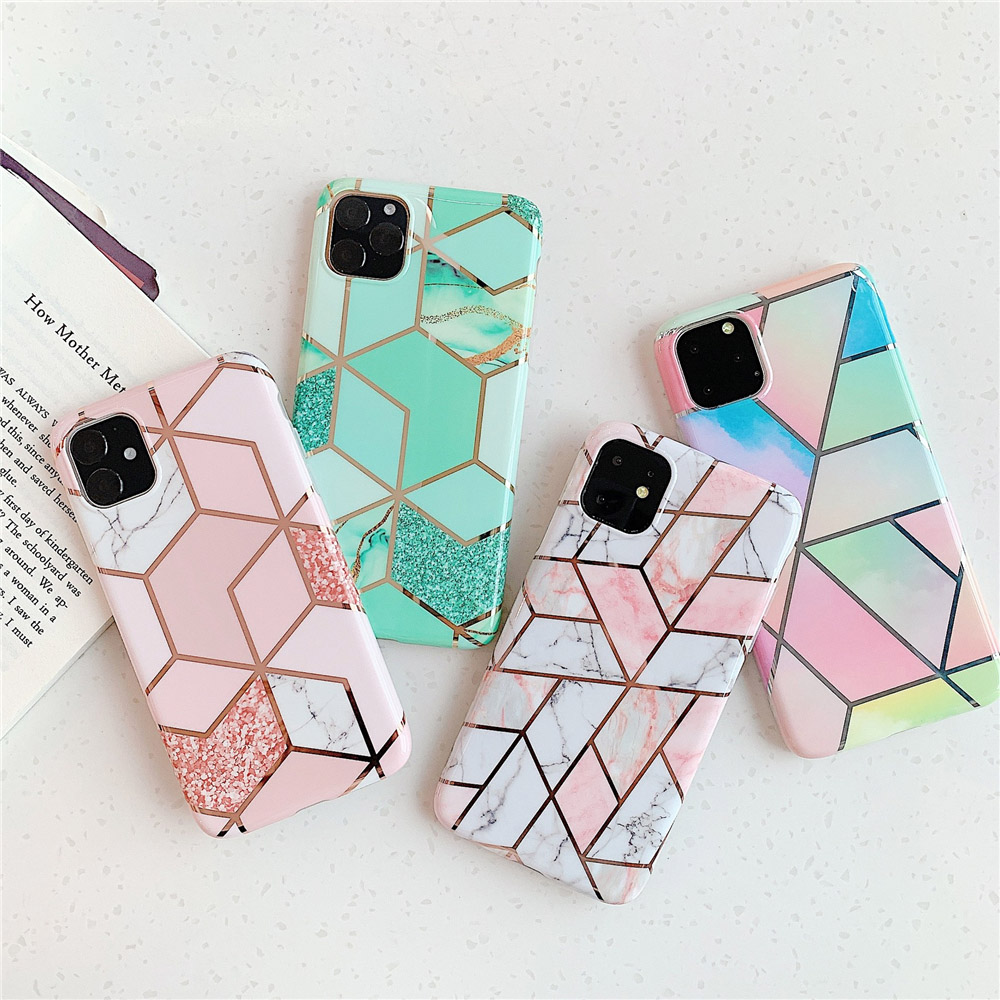 Marble Plating Case for iPhone SE (2020) 20